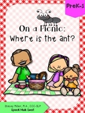 """On a Picnic: Where is the Ant?"" - Prepositions Book"