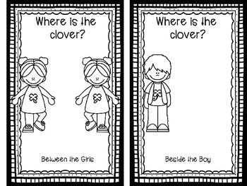 """""""Where is the Clover?"""" Cut and Glue Spatial Concept Book"""