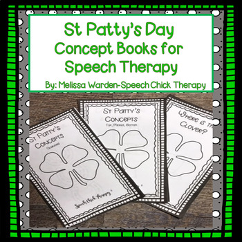 St. Patrick's Day Concept Books for Speech Therapy
