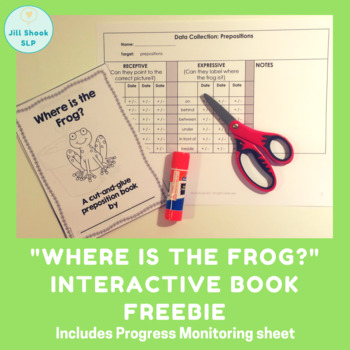 """""""Where is the Frog?"""" preposition book FREEBIE"""