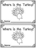 """Where is the Turkey?"" Emergent Reader (A Thanksgiving/November Dollar Deal)"