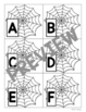 Where's the Spider? Pocket Chart Game (Upper & Lowercase Letters and Numbers)