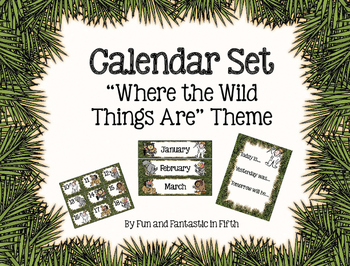 """""""Where the Wild Things Are"""" Calendar Set"""