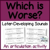 """""""Which is Worse?"""" Bundle - A Carryover Activity for Later-"""