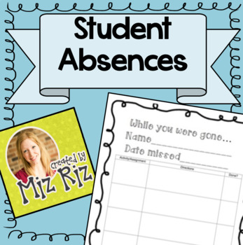 """""""While You Were Gone"""" Absence Report"""
