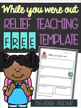 'While you were out...' Relief Teacher FREEBIE
