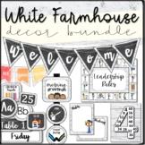 """White Farmhouse"" Classroom Decor, Posters BUNDLE"