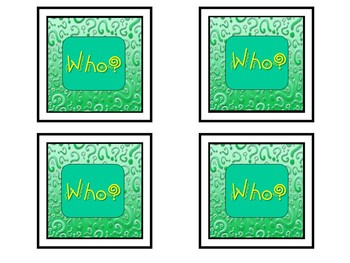 """""""Who Am  I?"""" (asking/answering community helper questions)"""