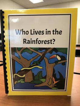 """""""Who Lives in the Rainforest?"""" Flap Book/ Adapted Book"""