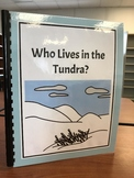 """""""Who Lives in the Tundra?"""" Flap Book/ Adapted Book"""