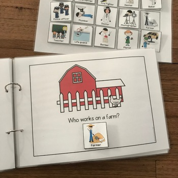 'Who' Questions Interactive Book for Students with Autism