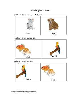 """""""Who"""" Questions Part 1: Animals"""