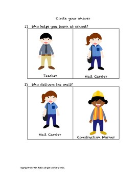 """Who"" Questions Part 2: Community Helpers"
