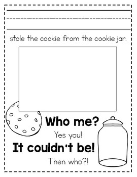"""Who Stole The Cookie From The Cookie Jar?"" Class Book"