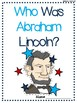 """Who Was Abraham Lincoln?"" Reading Log"