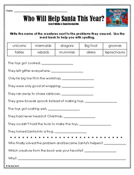 """""""Who Will Help Santa This Year?"""" Activities for Reading, Writing, & Fun"""