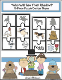 """Groundhog Activities: """"Who Will See Their Shadow This Year?"""" Puzzle Center Game"""