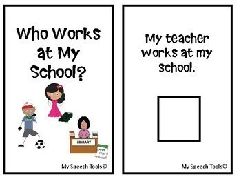"""Who Works At My School?"" Back-to-School Adapted Interactive Book"