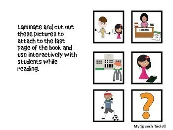 """""""Who Works At My School?"""" Back-to-School Adapted Interactive Book"""