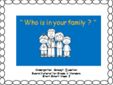"""""""Who is in your family ?"""" Concept Response Sheet for Wonders K"""