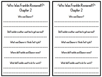 """Who was Franklin Roosevelt?"" by Margaret Frith - Chapter Questions"