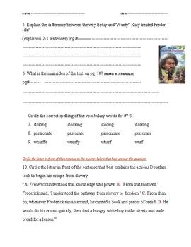 """Who was Frederick Douglass?"" ch. 1n2 Quiz"