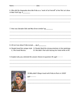 """""""Who was Frida Kahlo?"""" ch. 7 and 8 Part2"""