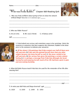 """""""Who was Frida Kahlo?"""" ch. 8 and 9 QnA"""