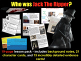 Who was Jack the Ripper? Character Card & Evidence Sort