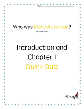 """Who was Michael Jackson"" Chapter 1 Quick Quiz"