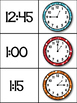 """""""Whooo"""" Can Tell Time to the Quarter Hour? (Matching Game/Flash Cards)"""
