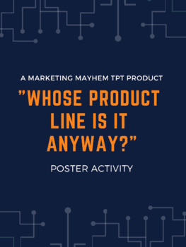 """""""Whose Product Line Is It Anyway?"""" Poster Activity"""