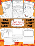 """""""Why Do Leaves Change Color """" Activity Packet (Wit & Wisdo"""