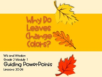 'Why Do Leaves Change Color' Wit and Wisdom Guiding PowerPoint