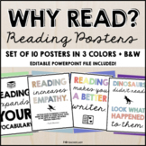 """Why Should I Read?"" Classroom Reading Poster Set"