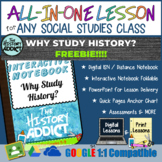 ⭐Why Study History Interactive Notebook & Distance Learnin