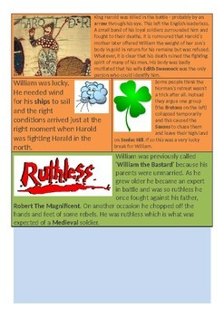 Why did William win the Battle of Hastings? 5-page lesson pack