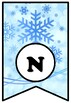 'Winter Art Is Fun', Art Bulletin Board Sayings, Winter Snow Pennant Letters