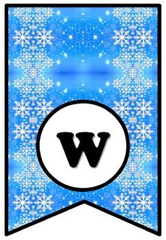 'Winter Art Masterpieces', Winter Art Bulletin Board Sayings, Pennant Letters