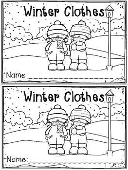 """""""Winter Clothes"""" Emergent Reader (A Winter/December/January Dollar Deal)"""