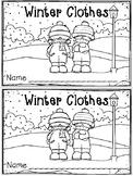 """""""Winter Clothes"""" Emergent Reader (A Winter/December/Januar"""
