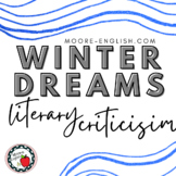 """""""Winter Dreams"""" Literary Criticism Pack (Task Cards Included)"""