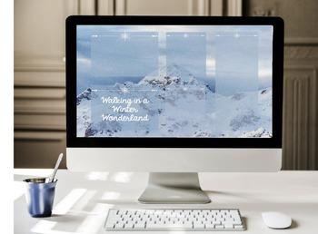 """""""Winter Wonderland"""" Desktop Organizer"""