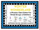 """Winter Wonderland!""- Phonics Game BUNDLE (letters, CVC, b"