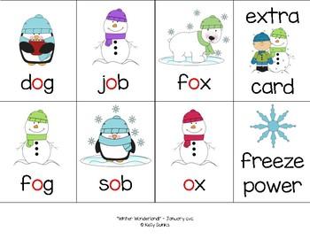 """""""Winter Wonderland!"""" ~ A Winter-Themed CVC Phonics Game w/Snowmen & Penguins"""