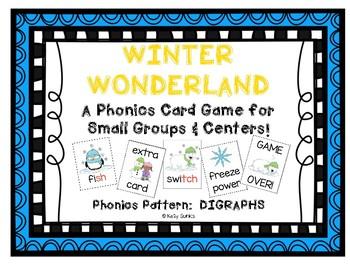 """""""Winter Wonderland!"""" ~ A Winter-Themed DIGRAPH Phonics Game w/Snowmen, Penguins"""