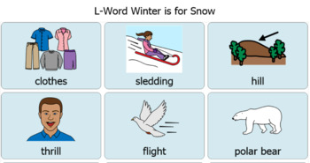 """""""Winter is for Snow"""" Artic/Vocab Words"""