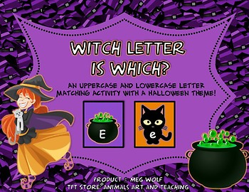 """Witch Letter is Which?"" Halloween Alphabet Matching Game"