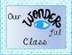"""Wonder"" Clip Up Behavior Chart"