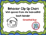 """Wonder"" Clip Up Behavior Chart"